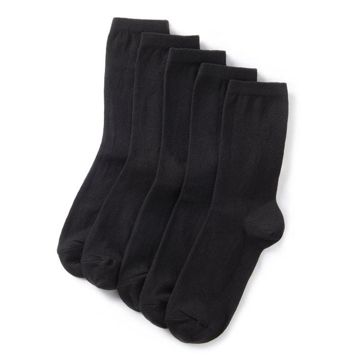 Mi-chaussettes unies (lot de 5)  La Redoute Collections image 0