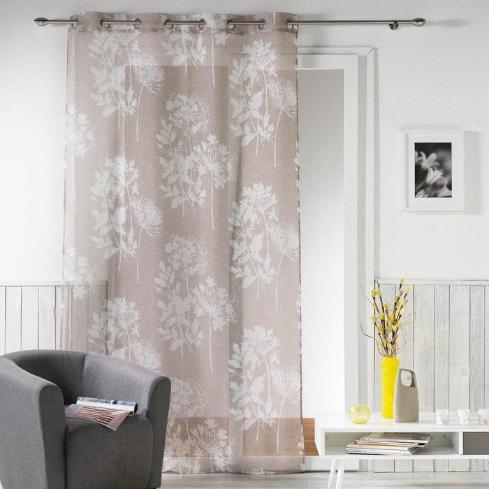 voilage lin prairie naturel douceur d 39 int rieur la redoute. Black Bedroom Furniture Sets. Home Design Ideas