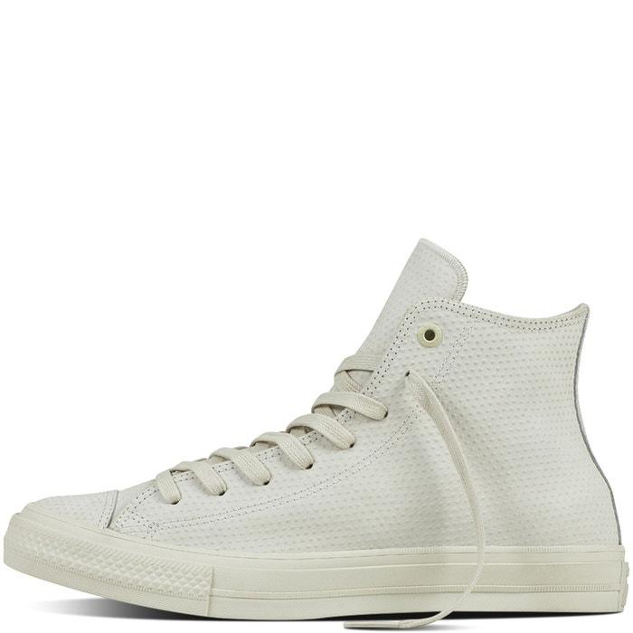 Baskets montantes cuir ctas ii lux leather blanc cassé Converse