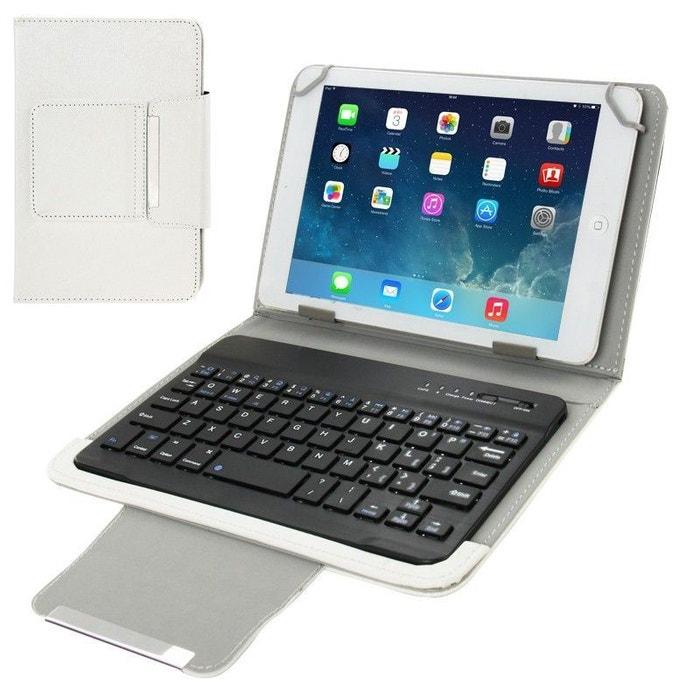 Housse clavier universelle tablette tactile étui 7 pouces