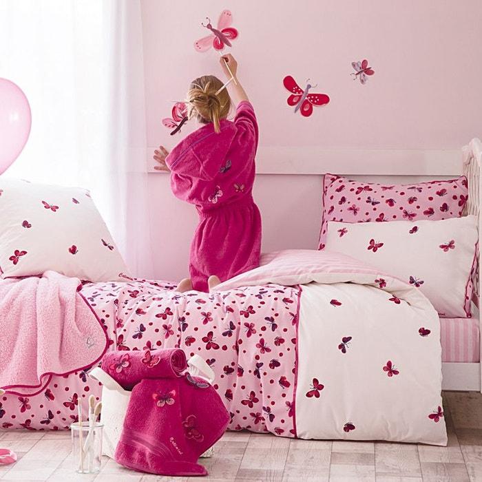 Envol e de papillons housse de couette rose catimini la for Housse de couette lilas
