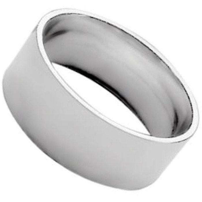 Bague alliance anneau ruban 8 mm argent 925 couleur unique So Chic Bijoux   La Redoute Vente Au Rabais EMMDfYJAN