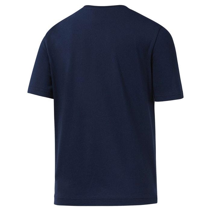 con redondo manga y cuello Camiseta REEBOK corta nvw8qx6OC5