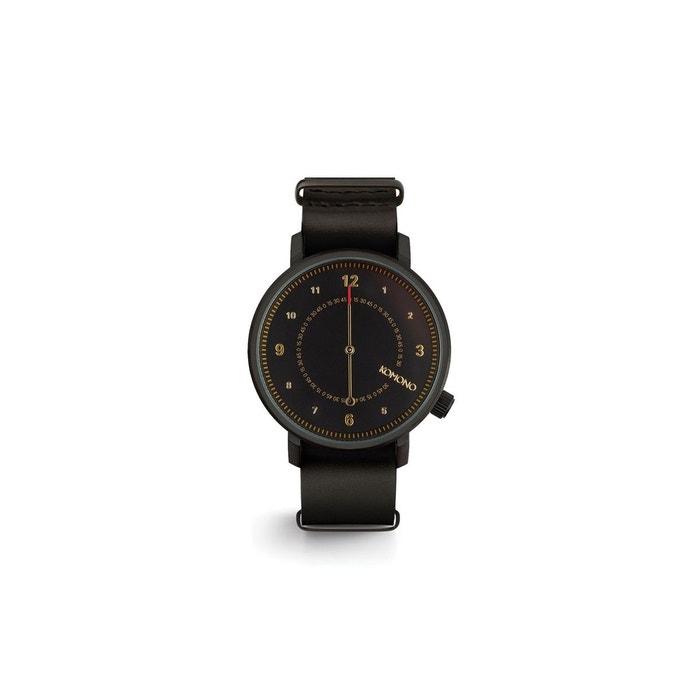 Montre homme magnus the one ii, bracelet cuir black Komono   La Redoute