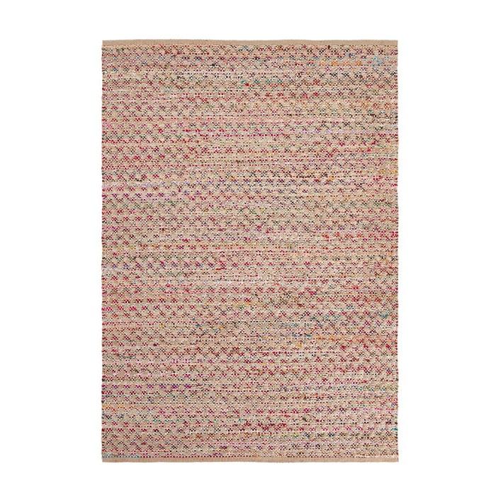 tapis tiss main en jute et coton recycl touaro naturel multicolore la redoute interieurs la. Black Bedroom Furniture Sets. Home Design Ideas
