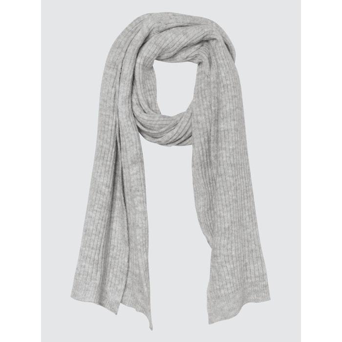 ace0949e3555 Echarpe douce en tricot mohair gris chine clair Bizzbee   La Redoute