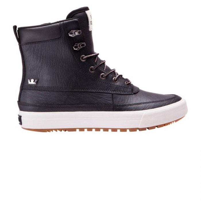 Chaussures oakwood mid black h17 noir Supra