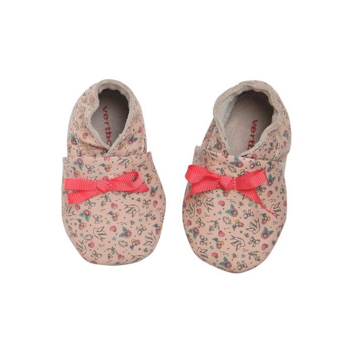 site réputé a38f0 ad5aa Chaussons de parc cuir souple bébé fille