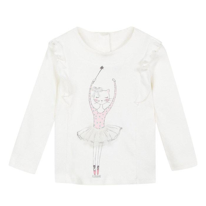 T-Shirt Manches Longues avec Motif Ballerine