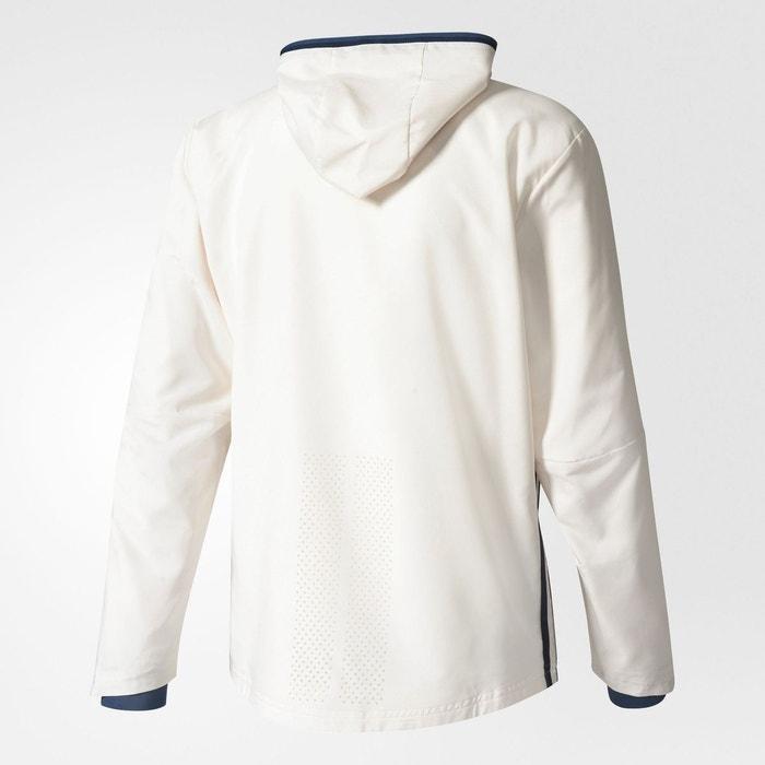 Adidas Présentation Blanc Fc Veste Craie Zippée De Manchester United 4pva8Aqa