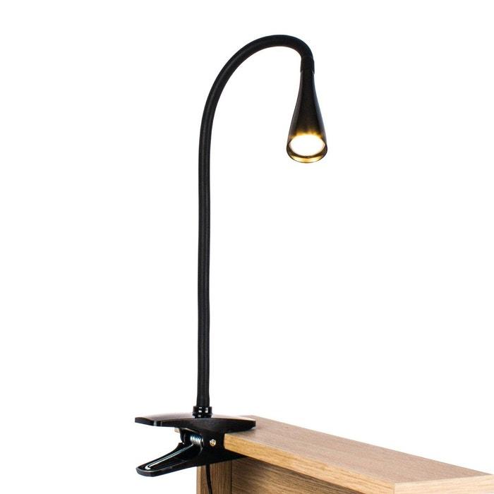 Lampe Led A Pince Flexible Astik Noire En Pvc Noir Keria La Redoute