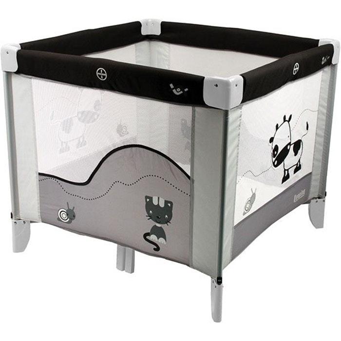 parc 90x90cm black emotion gris looping la redoute. Black Bedroom Furniture Sets. Home Design Ideas