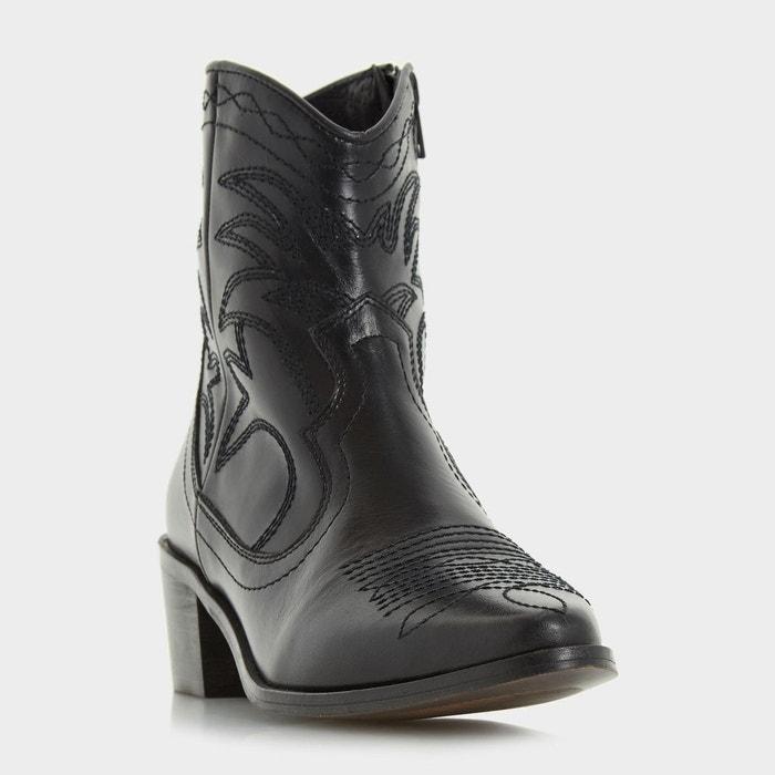 Stitch detail leather western ankle boot Acheter Pas Cher En Ligne Prix boutique Pas Cher Prix Discount G1QUpHQj