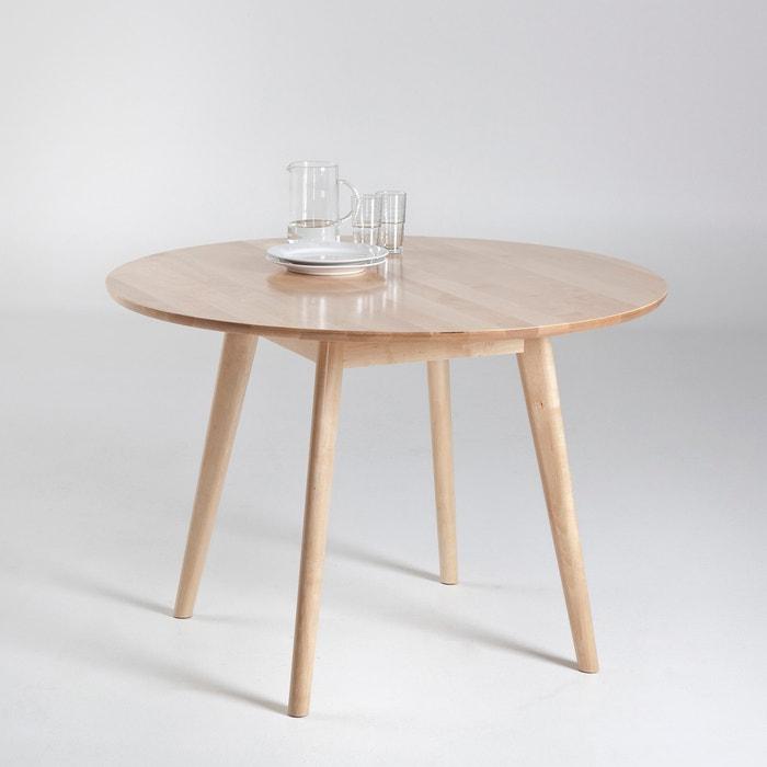 Mesa redonda para 4 personas jimi natural la redoute - Mesa redonda 4 personas ...