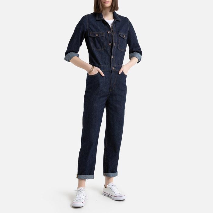 Jumpsuit met lange mouwen in jeans  LA REDOUTE COLLECTIONS image 0