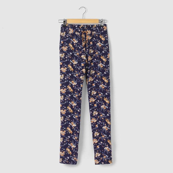 afbeelding Soepele broek met bloemenprint R pop