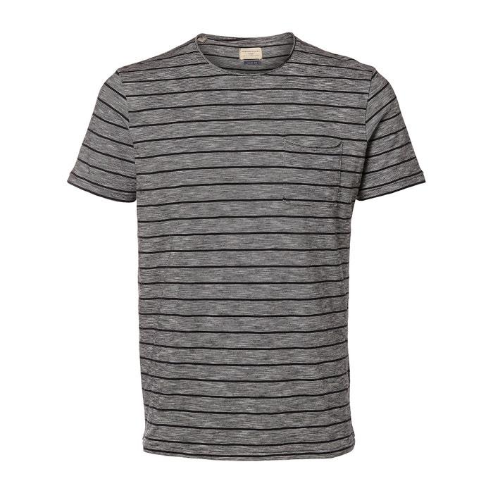 Image T-shirt scollo rotondo a righe SELECTED