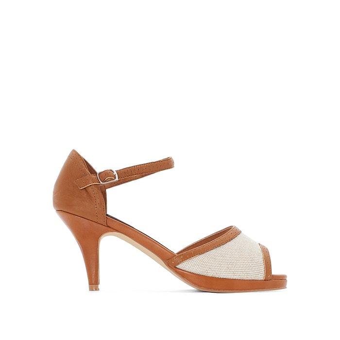 Two-Tone Leather Heels  ANNE WEYBURN image 0