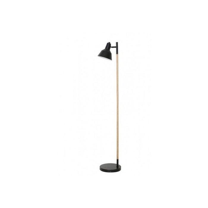 lampadaire style scandinave nordic en bois brut et m tal noir noir millumine la redoute. Black Bedroom Furniture Sets. Home Design Ideas