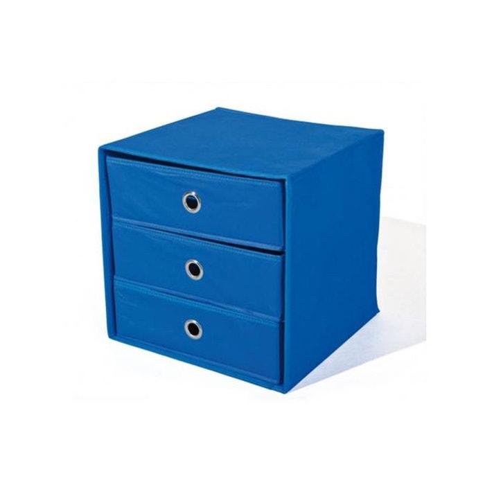 Boite de rangement 3 tiroirs bleue billy bleu declikdeco la redoute - La redoute rangement ...