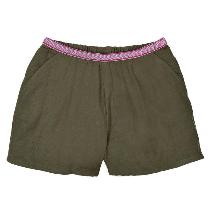 1ffd04b15a305 Short ceinture fantaisie en gaze de coton 3-12 ans kaki La Redoute  Collections | La Redoute