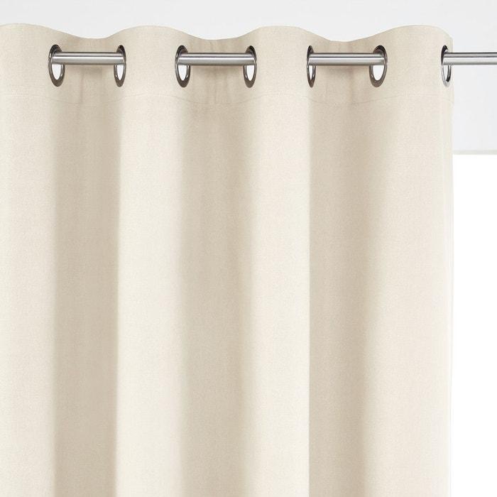 rideau occultant lin coton oeillets ta ma la redoute interieurs la redoute. Black Bedroom Furniture Sets. Home Design Ideas