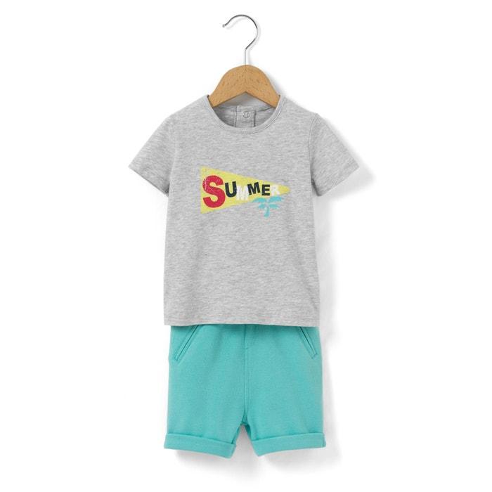 Imagen de Conjunto camiseta + short 1 mes - 3 años R mini