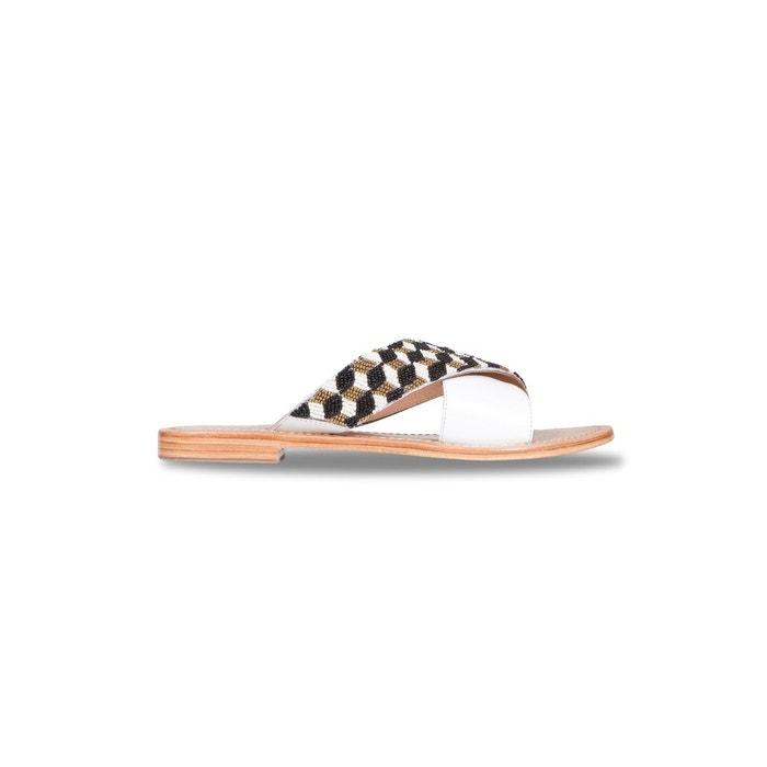 Sandales marcella blanc Bons Baisers De Paname Bas Prix beN0rIB