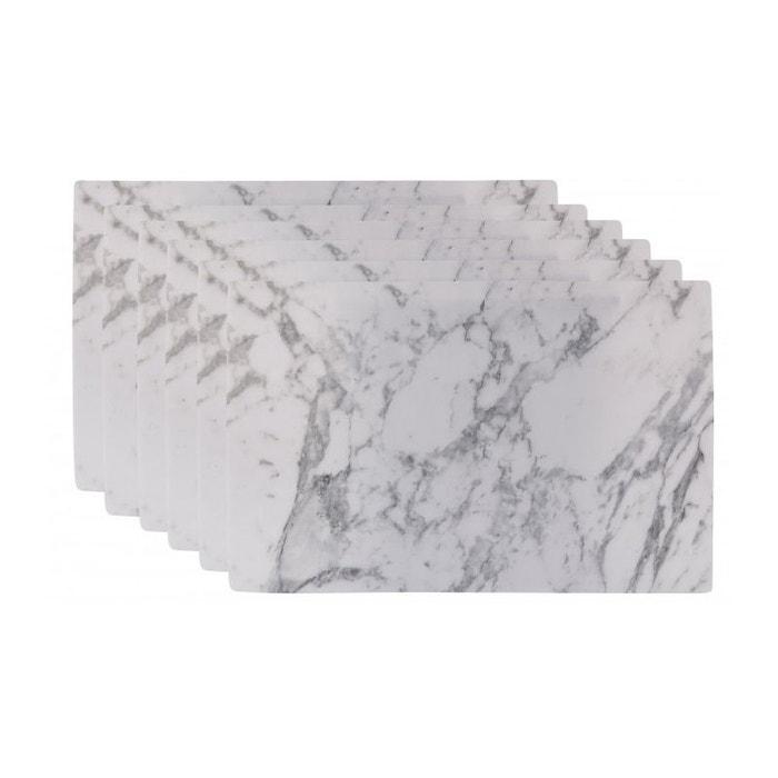 Set de table design marbre en vinyle - set de 6 gris Wadiga | La ...