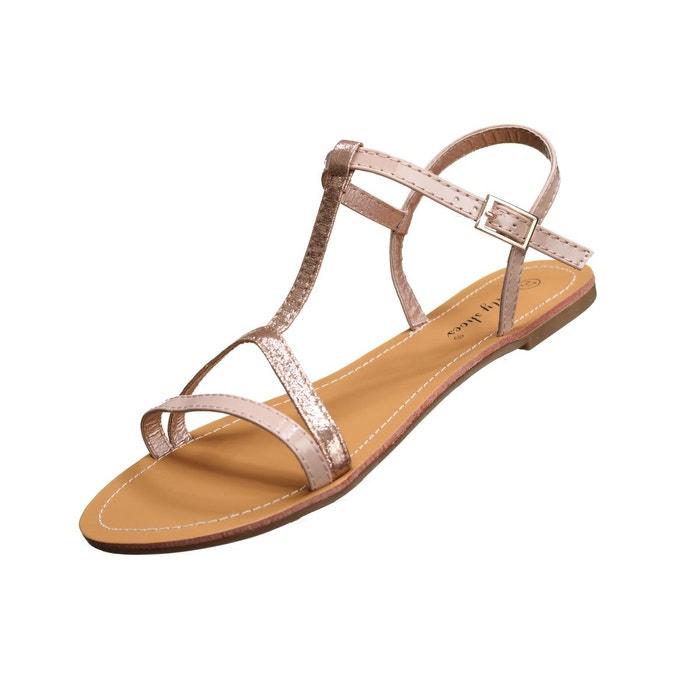 Sandales fines  rose Leader Mode  La Redoute