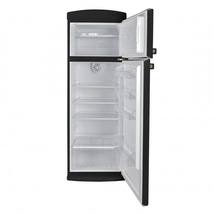 Telefunken Tfnvinblk Réfrigérateur Portes Vintage Noir L - Frigo 2 portes