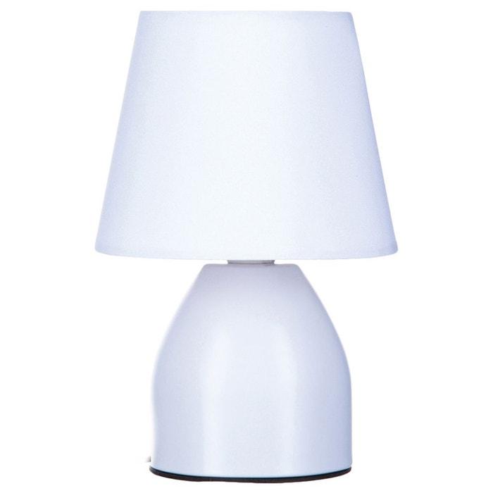 Lampe de chevet diam 12 5 cm blanc blanc atmosphera la redoute - Lampe de chevet blanc ...