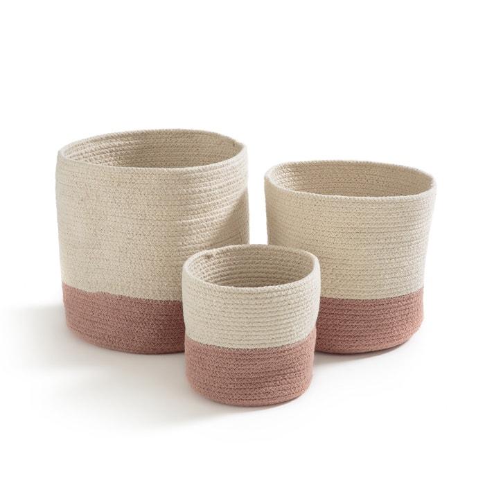 Confezione da 3 cesti in cotone, SOLIPOLO  La Redoute Interieurs image 0