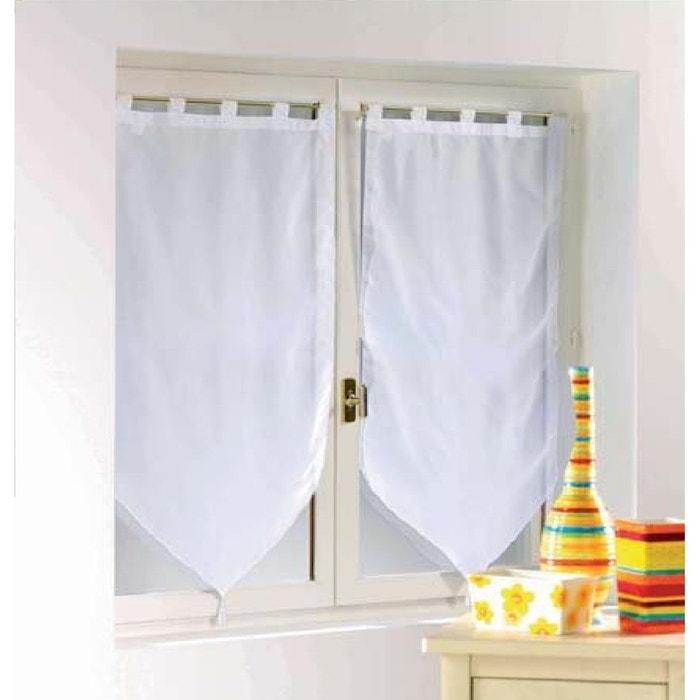 paire de voile pompon rideau passants uni voiline douceur d interieur la redoute. Black Bedroom Furniture Sets. Home Design Ideas
