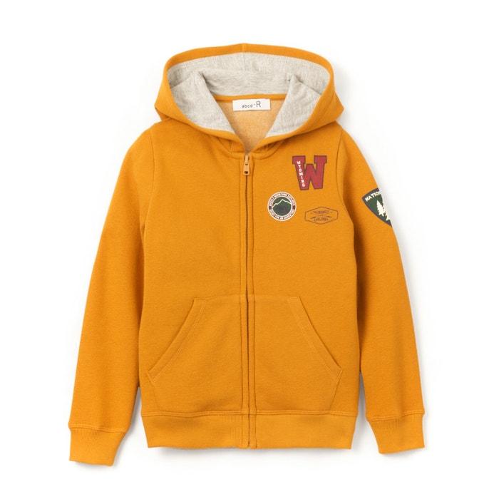 Image Sweat zippé à capuche avec badges 3-12 ans La Redoute Collections