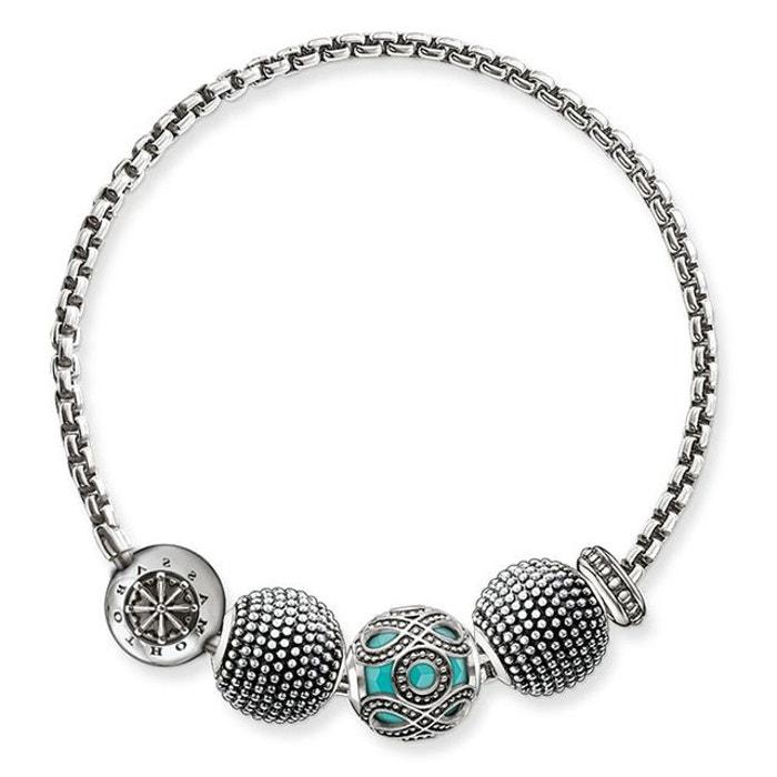 Bracelet argenté, turquoise Thomas Sabo | La Redoute