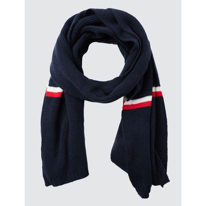 cd8229e32d80 Echarpe tricot bleu blanc rouge bleu marine Bizzbee   La Redoute