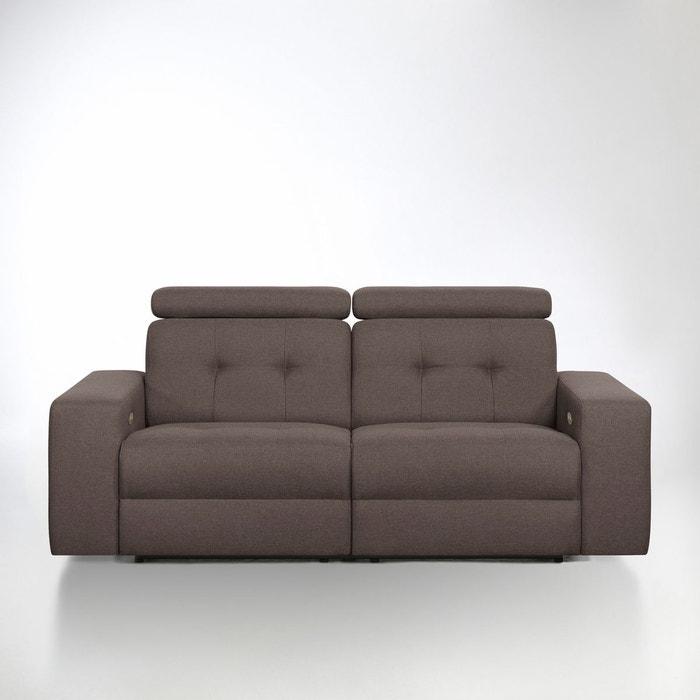 Canapé de relaxation électrique julema en tissu ch La