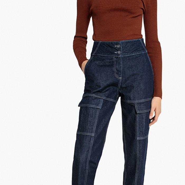 Jeans straight vita alta, tasche applicate  La Redoute Collections image 0