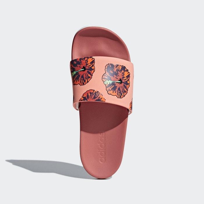 Sandale adilette cloudfoam plus graphic rouge Adidas Performance