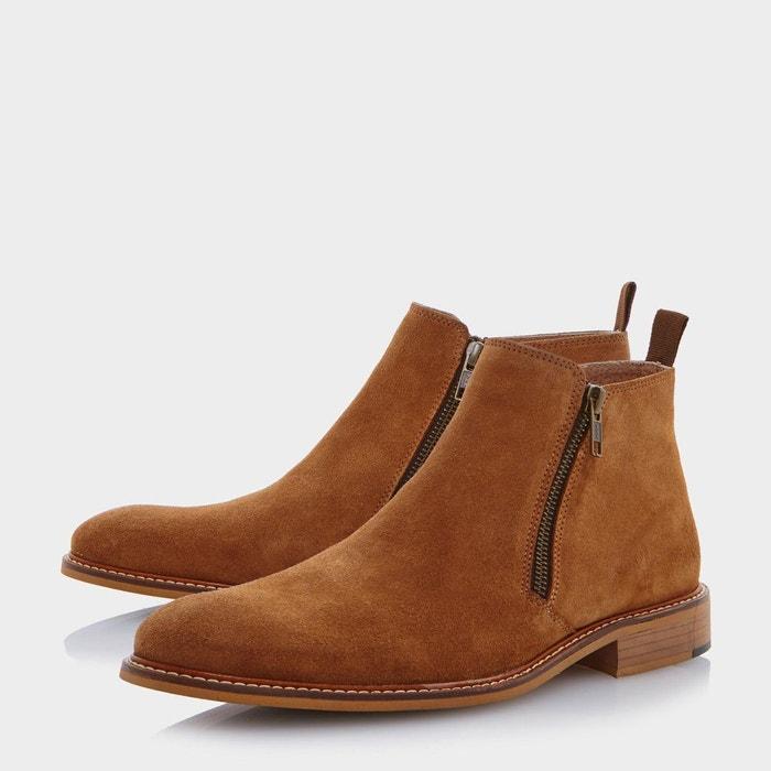 Boots à deux zips - cassidy fauve daim Dune London