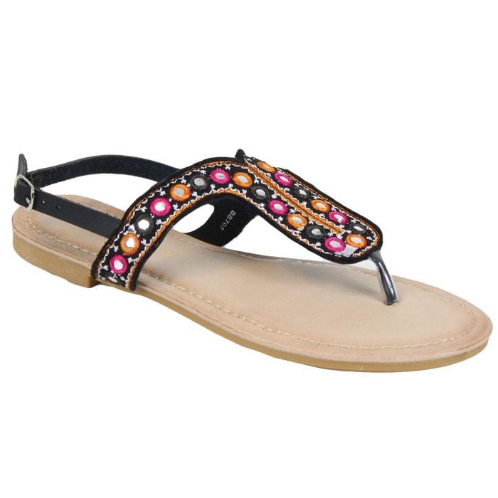 Sandales bb707 noir Kebello