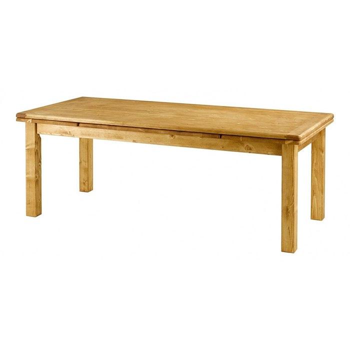 Table sapin massif avec allonges teint miel couleurs des for Table exterieur la redoute