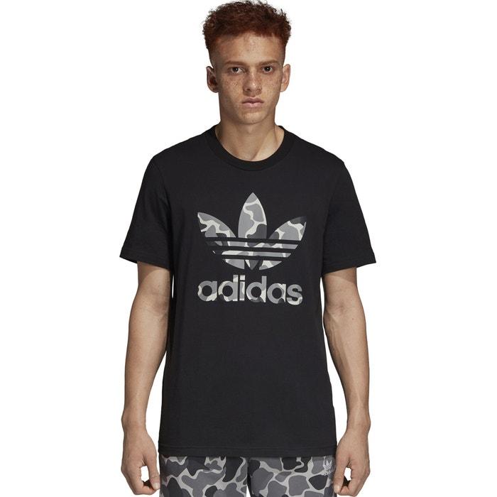 Adidas originals estampado con de cuello y delante manga Camiseta corta redondo rrdwnZBx