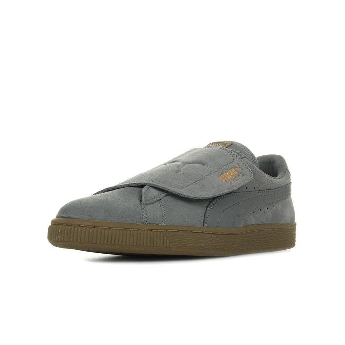 Puma Suede Wrap Gum Burn gris - Chaussures Basket