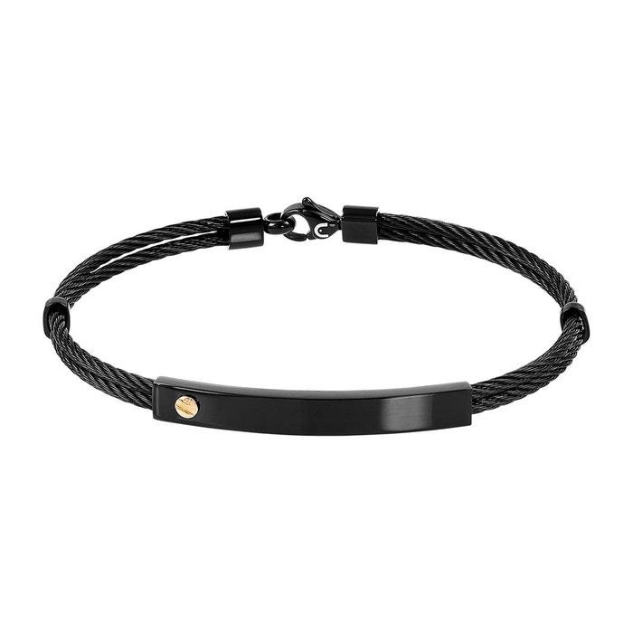 Bracelet male acier noir Male   La Redoute De Nouveaux Styles En Ligne Pas Cher Profiter De La Vente En Ligne L77Xr0mh
