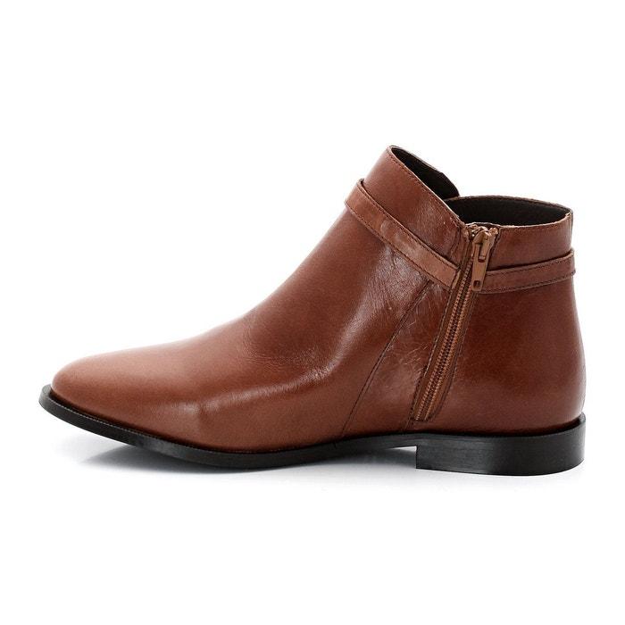 Boots cuir dotal cognac Jonak