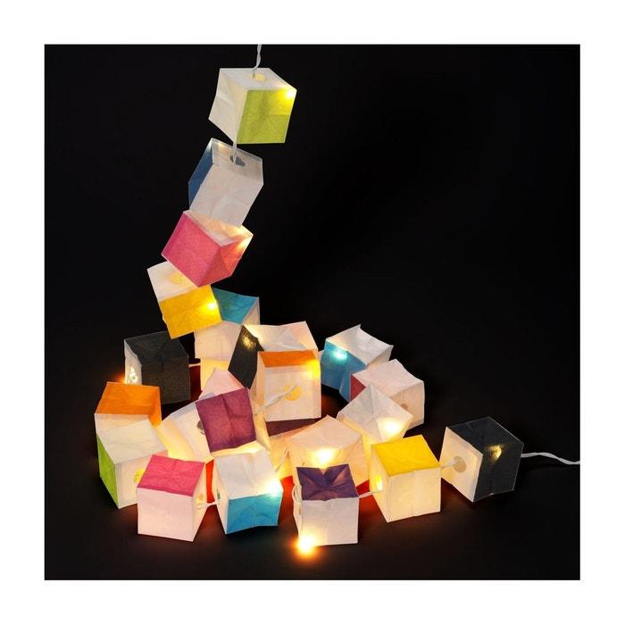Guirlande lumineuse cubiste couleur led tsé tsé multicolore Tse Et ...