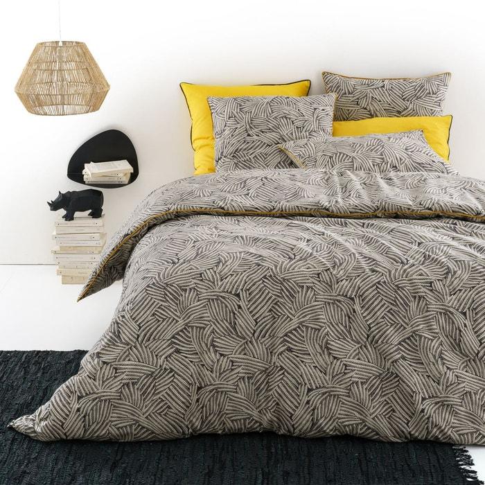 housse de couette mistral carbone blanc la redoute. Black Bedroom Furniture Sets. Home Design Ideas