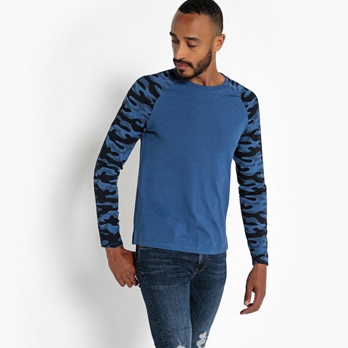 T-shirt scollo rotondo maniche lunghe raglan  La Redoute Collections image 0